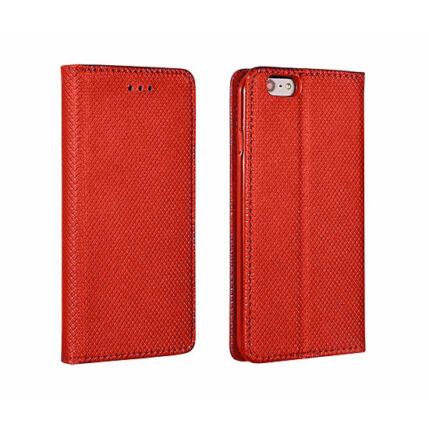 Oldalra nyíló flip tok, Huawei P20, Smart - piros