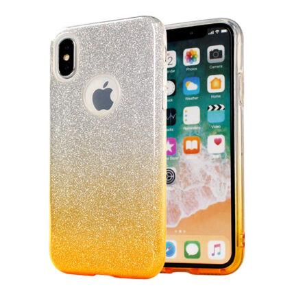 Szilikon tok, Samsung A605 Galaxy A6 Plus 2018, Bling (Csillámos) - arany