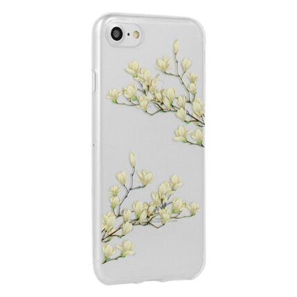 Szilikon tok, Apple iPhone X, Floral - Magnolia