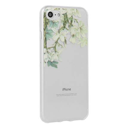 Szilikon tok, Samsung J330 Galaxy J3 2017, Floral - Jasmine