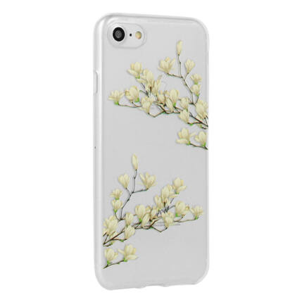 Szilikon tok, Samsung A530 Galaxy A5 2018, A8 2018, Floral - Magnolia