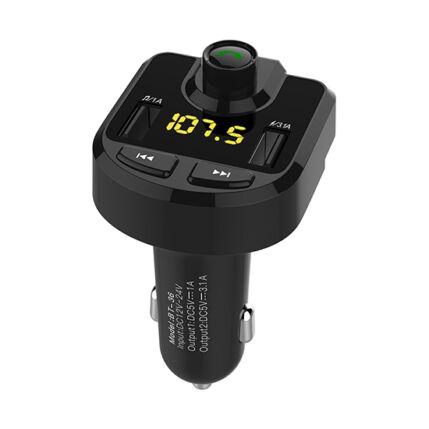 FM Transmitter, FM BT-36 2xUSB, microSD, Bluetooth, Kihangosító, Szivargyújtós töltő (autós mp3 lejátszó)