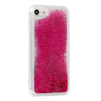 Szilikon tok, Apple iPhone 5, 5S, Liquid (Csillámos), rózsaszín