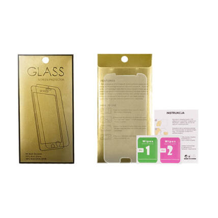 Xiaomi Mi 9 SE, Kijelzővédő fólia (ütésálló) Glass-Gold