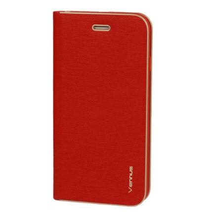 Samsung A207 Galaxy A20S, Oldalra nyíló flip tok, Vennus, piros