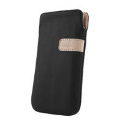 Álló bőr tok, (L) Samsung S5230, S5260, S5620, fekete