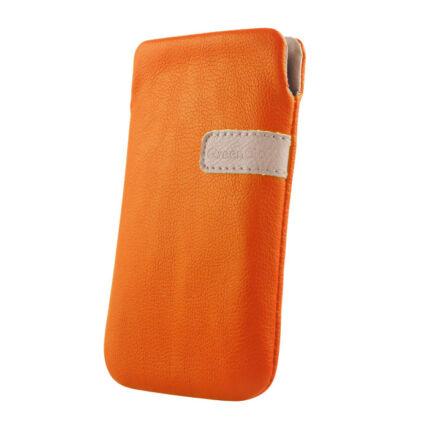 Álló bőr tok, (XL) Samsung S5830, narancs
