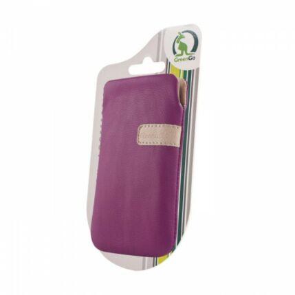 Álló bőr tok, (XL) Samsung S5830, lila