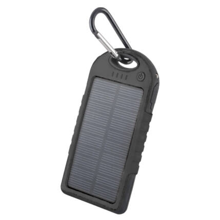 Külső akkumulátor,  5000mAh, Forever STB-200 (Solar), fekete