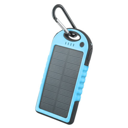 Külső akkumulátor,  5000mAh, kék Forever PB-016 (Solar)