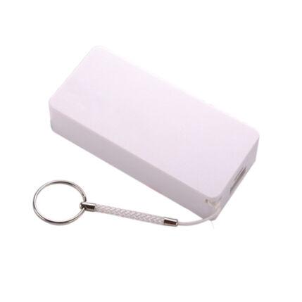 Külső akkumulátor,  5200mAh, fehér Setty