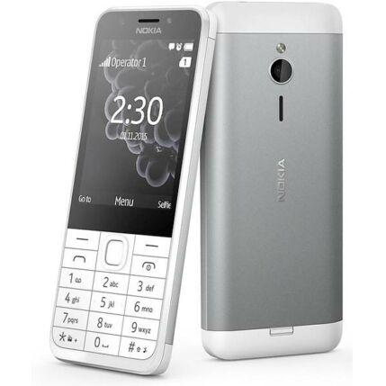 Nokia 230 DualSIM, Mobiltelefon, ezüst