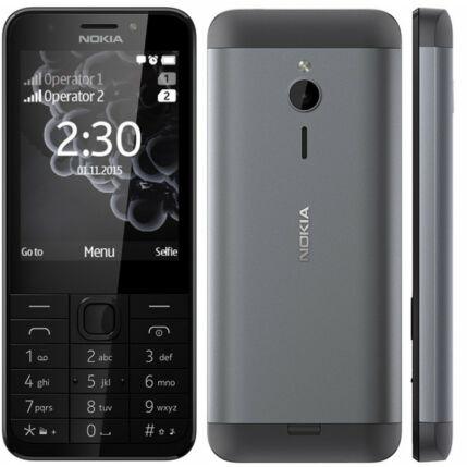 Mobiltelefon, Nokia 230 DualSIM + Domino fix (500MB, 40 perc lebeszélhetőség), Kártyafüggetlen, 1 év garancia, fekete