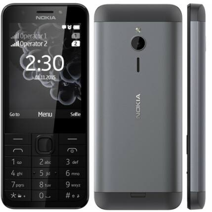 Nokia 230 DualSIM, Mobiltelefon, sötétszürke