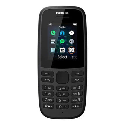 Nokia 105 2019 SingleSIM, Mobiltelefon, fekete