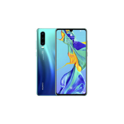 Huawei P30 128GB 6GB RAM DualSIM, (Kártyafüggetlen 1 év garancia), Mobiltelefon, aurora kék
