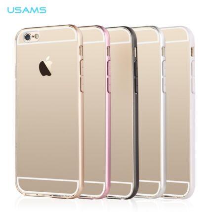 Apple iPhone 6/6S, Védőkeret (bumper), USAMS, ezüst